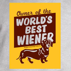 Owner Of The World's Best Wiener T Shirt Logo