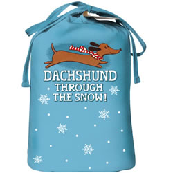 Dachshund Through The Snow Nightshirt In Its Own Giftbag Below