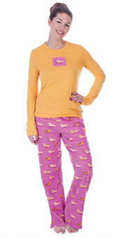 Dachshund Knit 2 Piece Pajamas