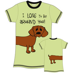 I Long To Wrap Around You Dachshund Nightshirt
