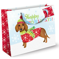 Christmas Dachshund Gift Bag