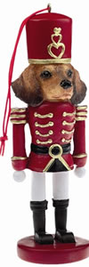 Red Dachshund Nutcracker Ornament