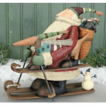 Santa And Dachshund Figurine
