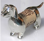 Dachshund Pewter Cork Desk Pet