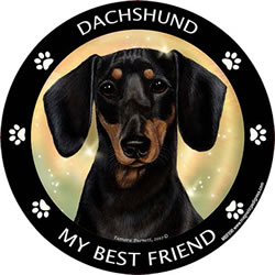Black/tan Dachshund My best Friend Magnet