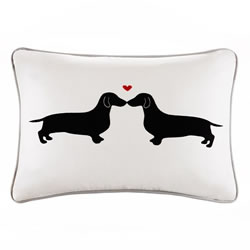 Dachshunds With Hearts Pillow