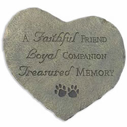 Faithful Friend Memory Stone