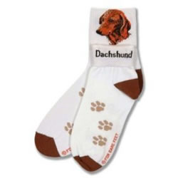 Dachshund And Paws Socks
