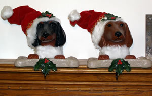 Santa Dachshund Stocking Holder