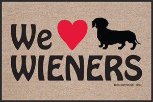 We Heart Wieners Doormat