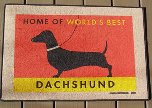 Home Of The Worlds Best dachshund Doormat