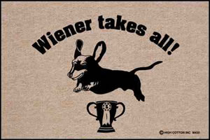 Wiener Takes All Doormat