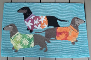 Dachshund At Beach Rug