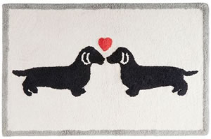 Dachshund Bathroom Rug