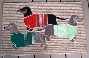 Dachshunds In Sweaters Rug