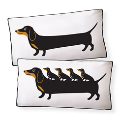 Dachshund With Puppies Pillow