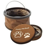 Collapsible pet water and food bowl