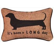 It's Been A Long Day Dachshund Pillow