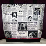 Back Of Wirehaired Dachshund Handbag
