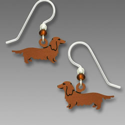 Longhair Dachshund Earrings